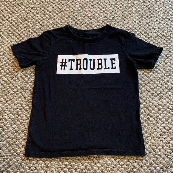 #trouble boys T Shirt. 5T. Good Cond.